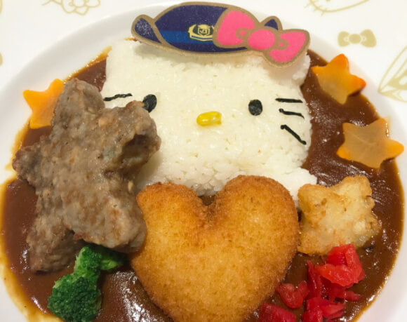The Hello Kitty Shinkansen has a cute little cafe in Hakata, Fukuoka