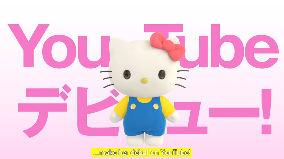 Hello Kitty is now also a Virtual YouTuber