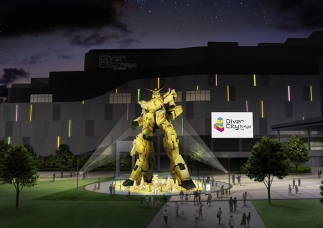Life-size Unicorn Gundam statue to turn gold for new interactive lights show