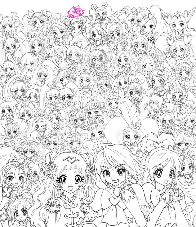 Singer Shoko Nakagawa shows her art skills by drawing 55 PreCure Magical Girls