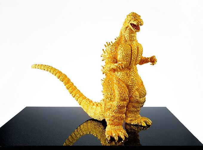 Solid gold Godzilla statue to sell for 150 million yen