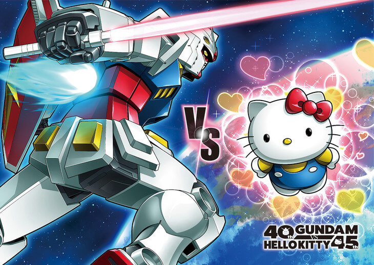 Gundam takes on Hello Kitty in surprising anniversary crossover