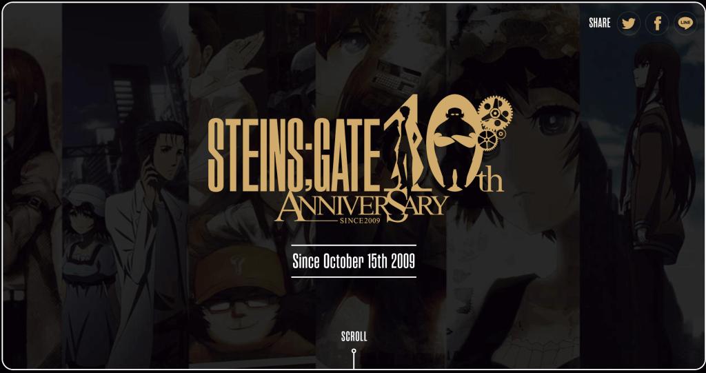 STEINS;GATE 10th Anniversary Site Open!