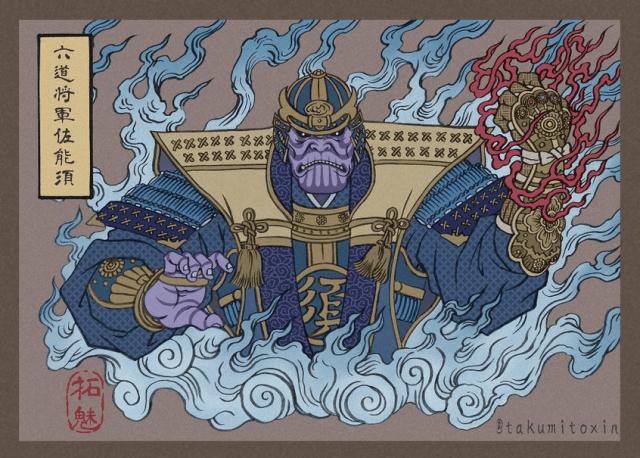Artist re-imagines Avengers as traditional Ukiyo-e Woodblock artworks