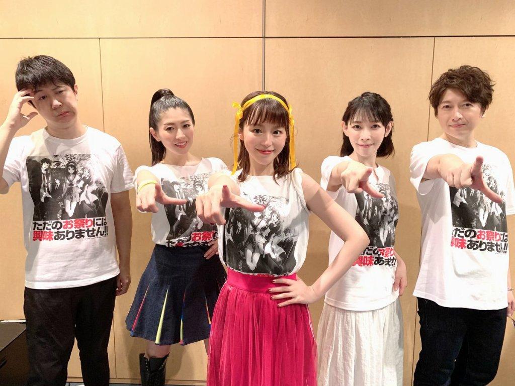 Haruhi Suzumiya franchise's S.O.S. Brigade reunites during the Lantis Matsuri event