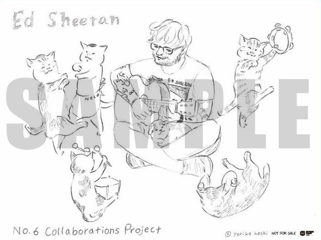 Award-winning mangaka Yoriko Hoshi teams up with Ed Sheeran once again for official stickers