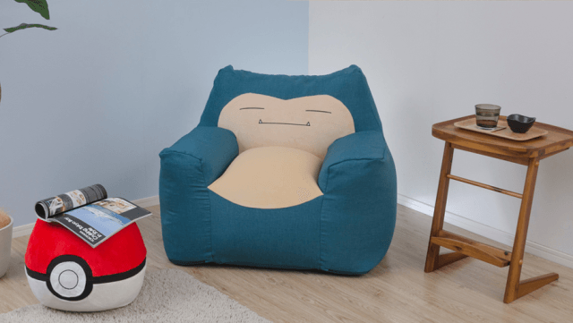Snorlax sofa and Pokeball Ottoman is just the cutest furniture set