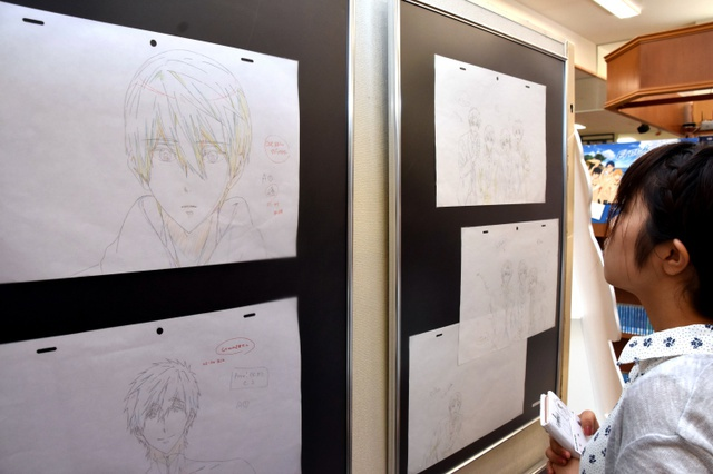 Kyoto Animation artworks survived the fire and are put on display