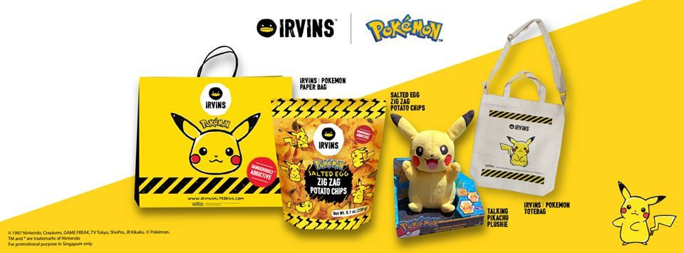 """IRVINS Launches """"Pokemon"""" Collab Featuring Salted Egg Zig Zag Potato Chips"""