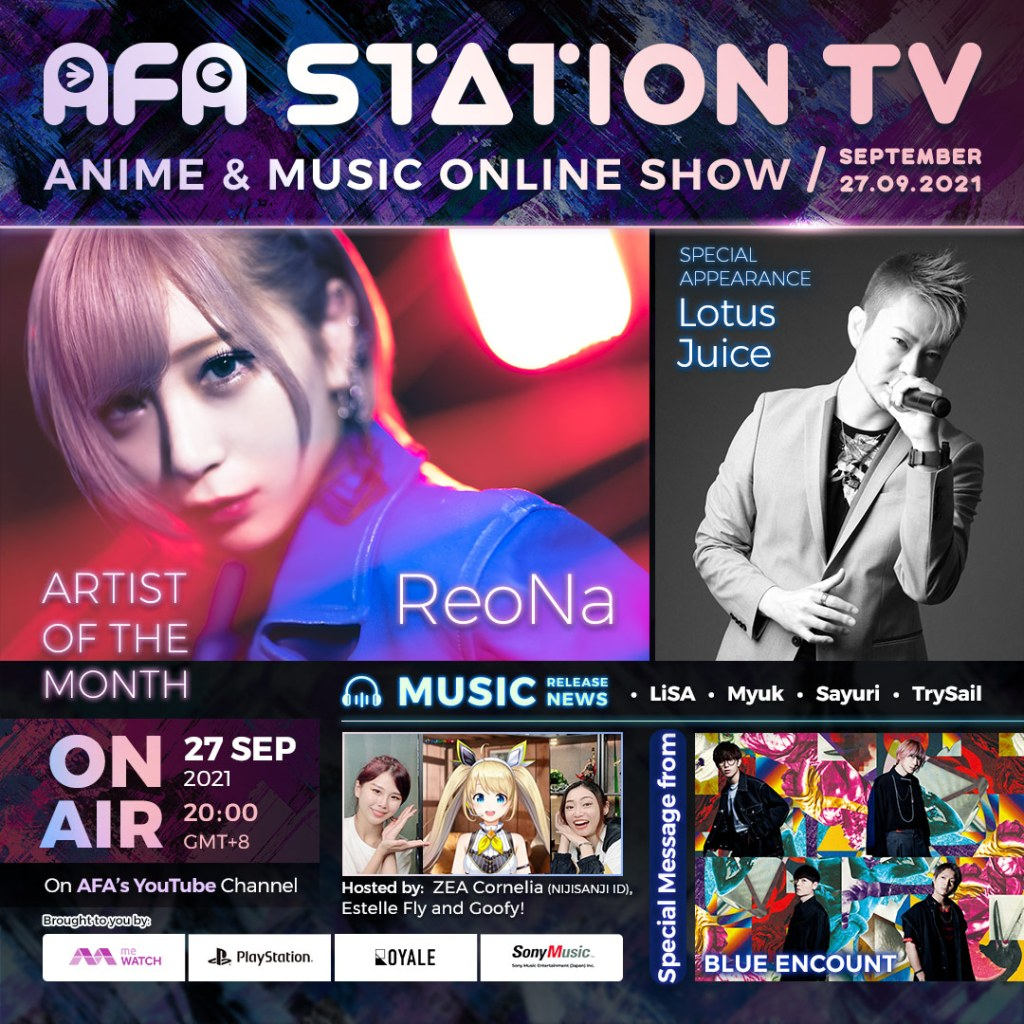 Don't Miss AFA Station TV Anime & Music Online Show 092021!