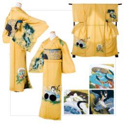 Fuujin Raijin:Kimono/¥450,000 Obi/¥300,000 Kimono+Obi/¥700,000