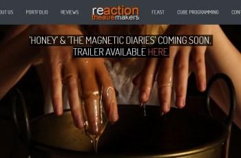 Reaction Theatre Makers Malvern Worcestershire Website Design Digital Marketing