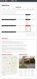 Classes Page with Intergrated Google Calendar and Google Maps