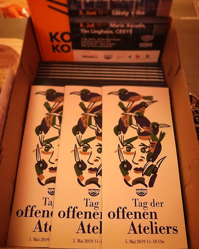 🏻 Die Broschüren zum Tag der offen Ateliers in Potsdam sind endlich da  Am 5. Mai 2019 ist es endlich wieder soweit.#rechenzentrumpotsdam #rzpotsdam #artist #ausstellung #betonyourself #radiopushers #art #artistsoninstagram #painting #exhibition #germany #potsdam #berlin - from Instagram