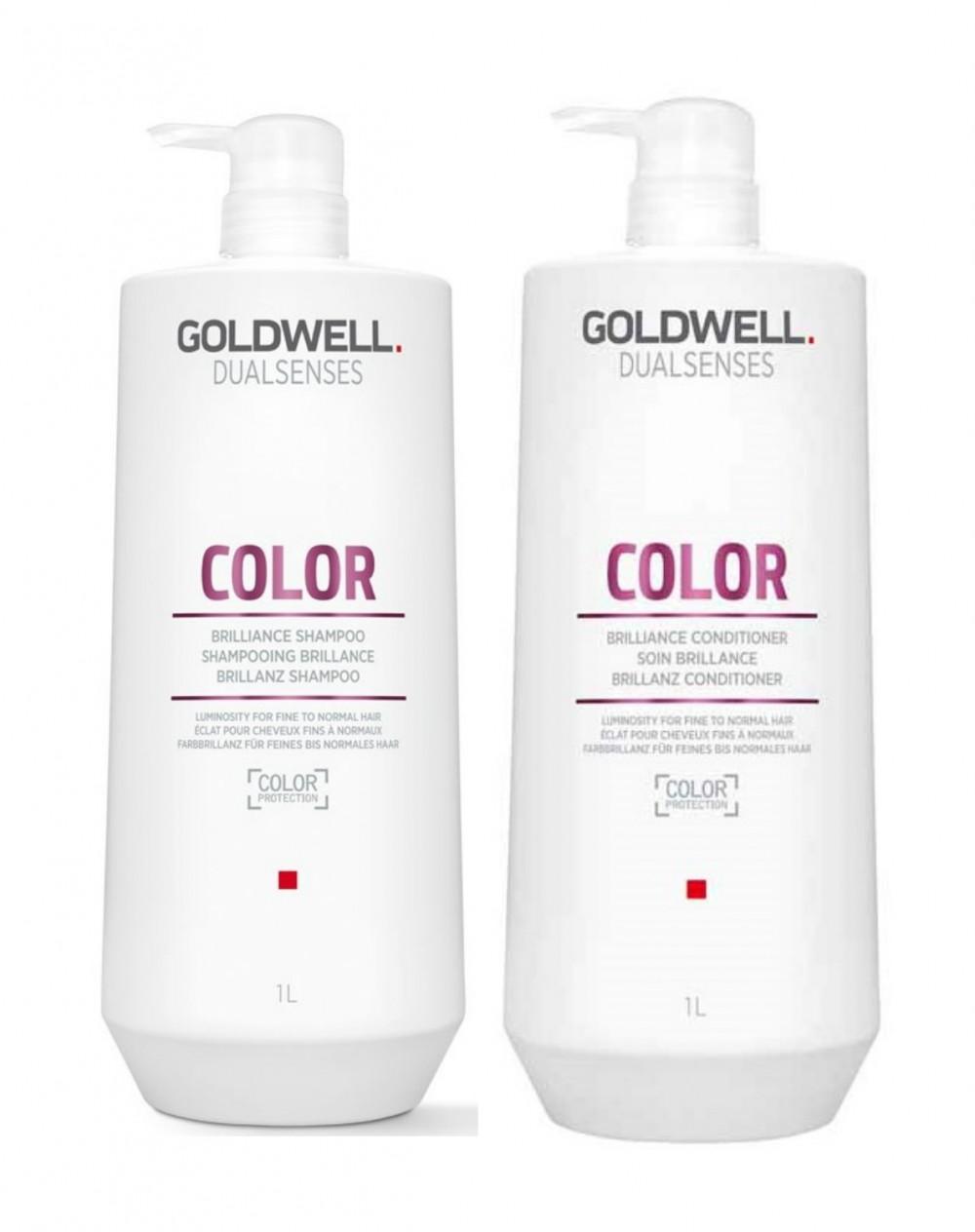 Goldwell Dualsenses Color Brillance Shampoo & Conditioner Duo Liters
