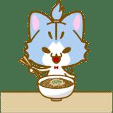 蕎麦を食べるシアン
