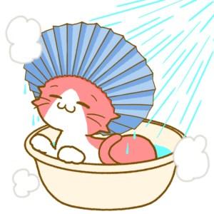シャンプーハットで入浴