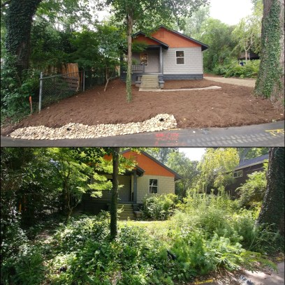 Before and After Landscaping Asheville