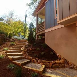 Stair Installation Landscaping