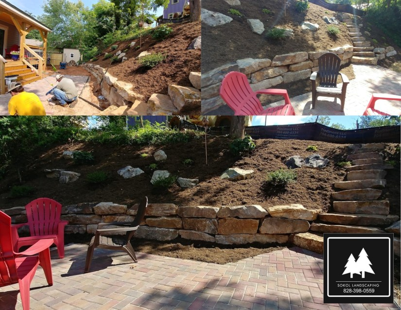 Boulder Wall Asheville Sokol Landscaping