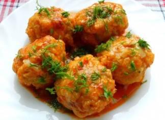 Фрикадельки овощные с рисом