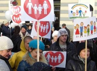 Марш в поддержку традиционной семьи