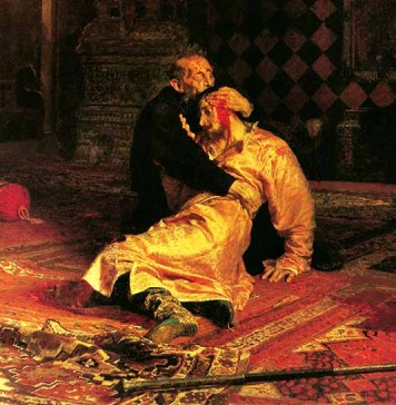 """И. Репин - """"Иван Грозный убивает своего сына"""""""