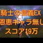 - 攻略動画 - 【DFFOO】騎士の信義EX 恩恵キャラ無し スコア19万