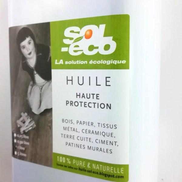 bidon acier huile Sol-éco pour bois haute protection 1L