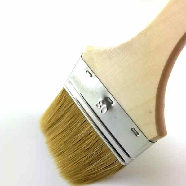 pinceau manche peuplier brut 80mm