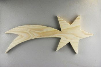 Modèle de forme (étoile filante) pour l'initiation au Yakisugi décoratif