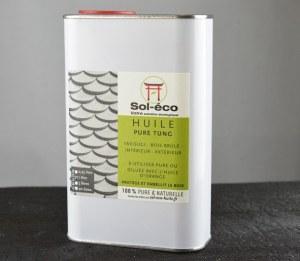 bidon d'1 litre d'huile de tung pure Sol-éco