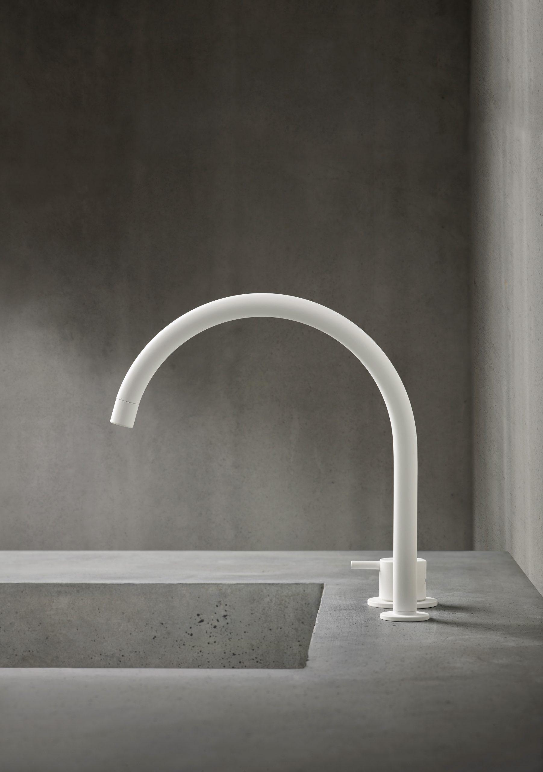 matte white faucet kitchen bath