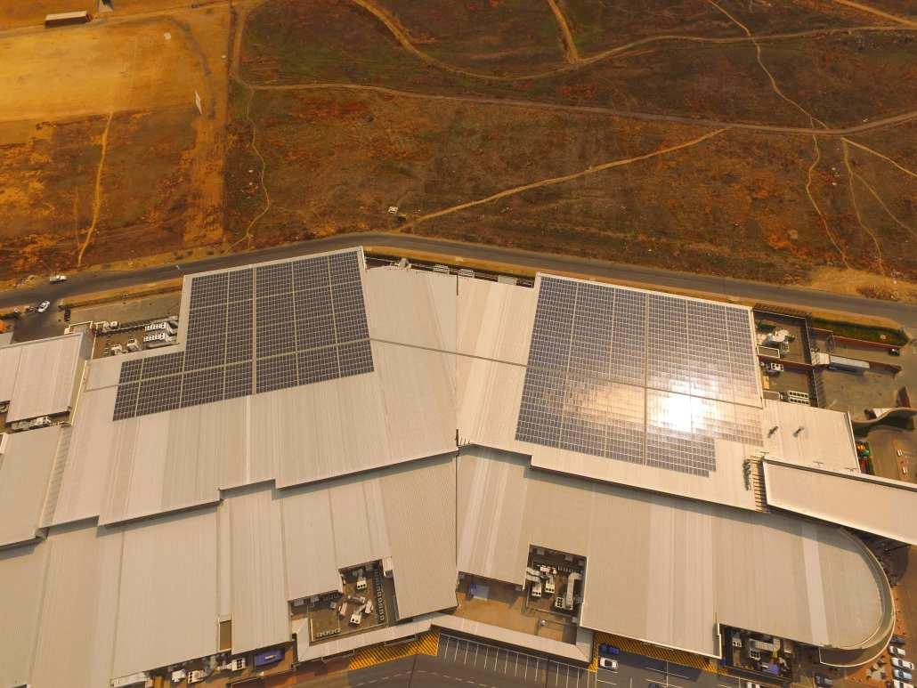 Secunda Mall Solar PV installment