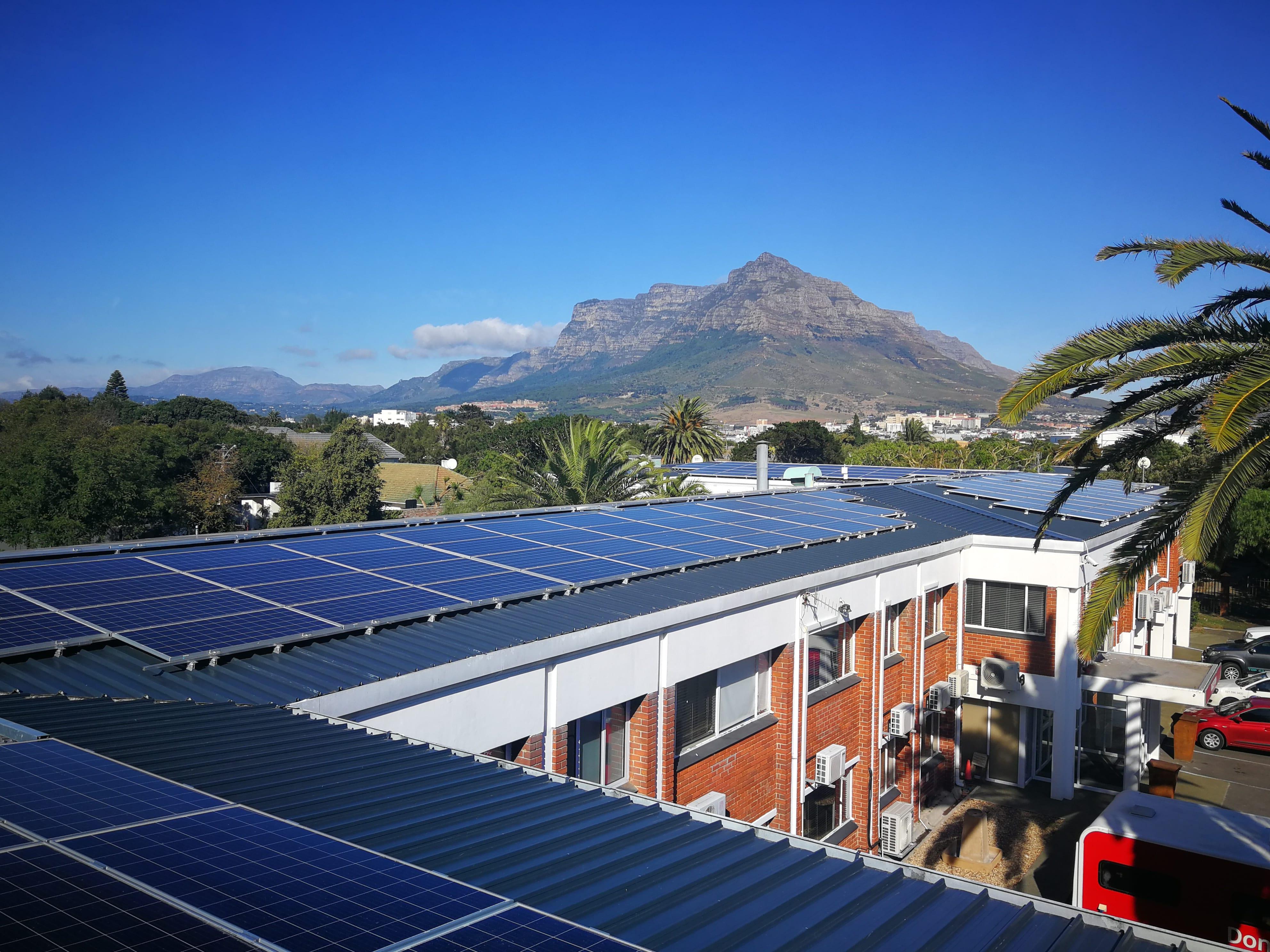 Western Cape Blood Service solar PV system