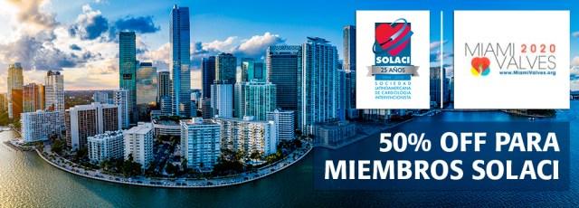 Miami Valves 2020 | Descuento para miembros SOLACI