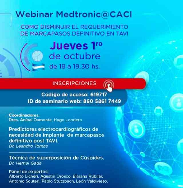 Webinar CACI | Disminución riesgo de Marcapasos en TAVI