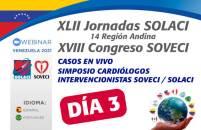 Jornadas Venezuela 2021 | Día 3: Casos en vivo y simposio de Cardiólogos Intervencionistas