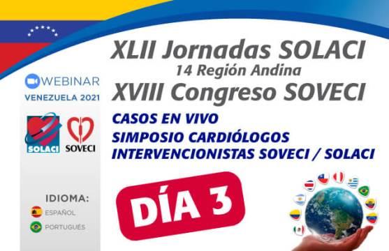Jornadas Venezuela 2021   Día 3: Casos en vivo y simposio de Cardiólogos Intervencionistas