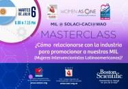 Masterclass SOLACI-CACI-WAO: ¿Cómo relacionarse con la industria para promocionar a nuestras MIL?