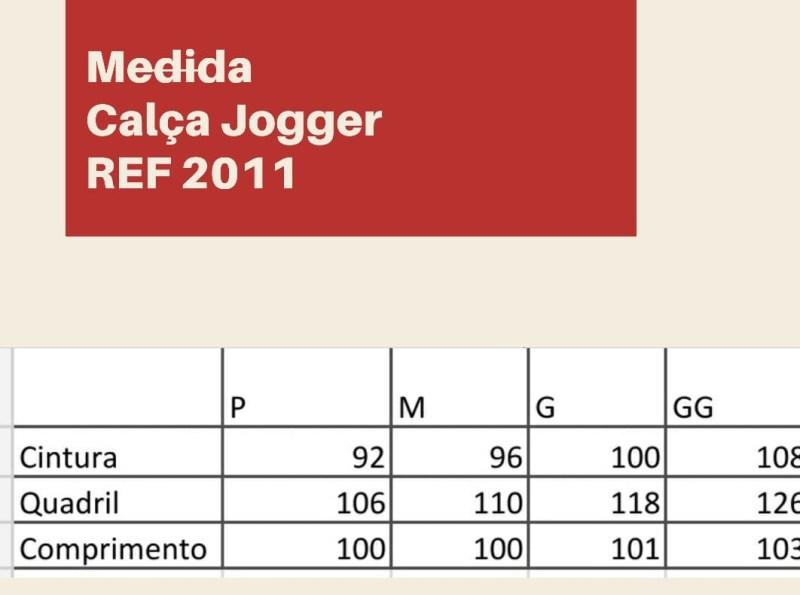 CALÇA JOGGER JEANS Tamanho