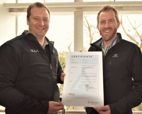SOLA obtains ISO 9001:2015