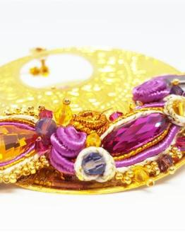 Création Solalbijoux créoles boucles d'oreilles Bollywood
