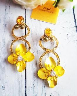 Solalbijoux boucles d'oreilles Exhubérance florale