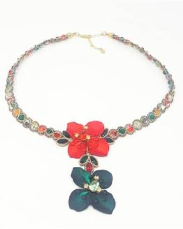 Solalbijoux collier Exhubérance florale