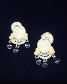 Boucles d'oreilles clips jaunes pâles Solal Bijoux Haute Fantaisie