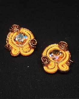Solal Bijoux Haute Fantaisie boucles d'oreilles orange cuivre