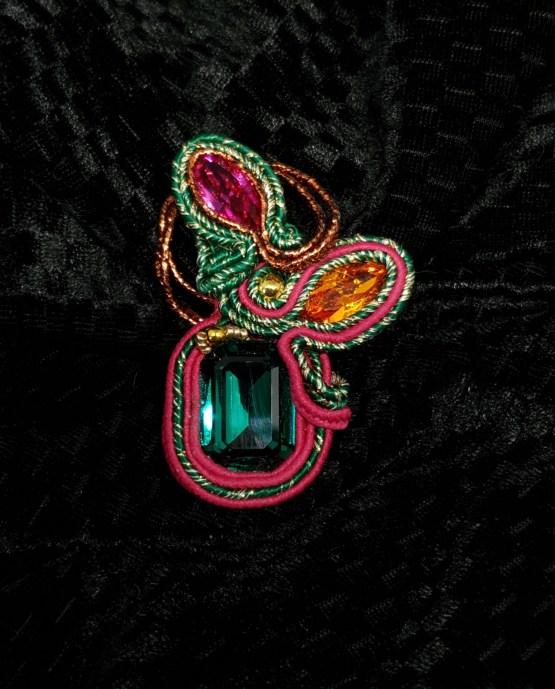 Solal Bijoux Haute Fantaisie bijou nomade vert, rose et orange