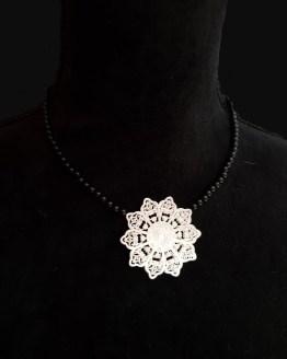 Solal Bijoux Haute Fantaisie collier aimanté onyx noir