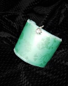 Solal Bijoux Haute Fantaisie Manchette et manchon réversible vert